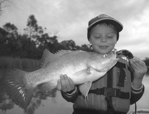 Young Jock Mackenzie with a Robinvale yella that took to the 90mm AC Invader.